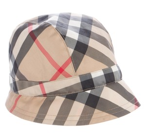Burberry Tan, black, brown Burberry Nova Check print bucket hat M