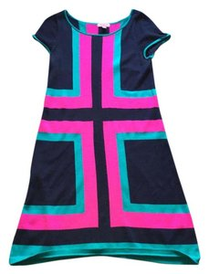 Lilly Pulitzer short dress Navy Blue, Hot Pink & Turqoise on Tradesy
