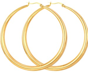 Gold Plated Big Hoop Earrings Stainless Steel Gold Plated Big Hoop Earrings Stainless Steel