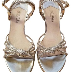 MICHAEL Michael Kors Gold Metallic Wedges