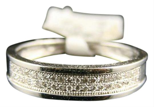 Other 10K MENS/LADIES FULL PAVE WG DIAMOND WEDDING BAND RING Image 0
