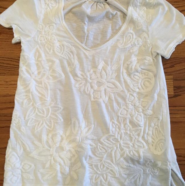 Anthropologie Embroidered T Shirt White Image 1