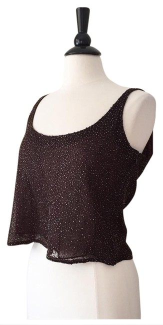 Preload https://img-static.tradesy.com/item/20848979/badgley-mischka-brown-copper-beaded-cami-night-out-top-size-14-l-0-1-650-650.jpg