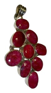 Silver Co. Ruby Gemstones Silver Pendant