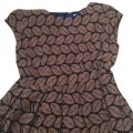 Esley short dress royal inside and brown and black on Tradesy Image 0