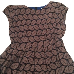 Esley short dress royal inside and brown and black on Tradesy