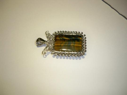 Silver Co. Tiger Eye Silver Pendant Image 1