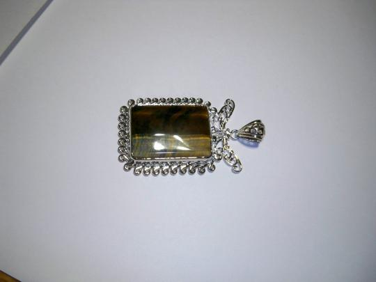 Silver Co. Tiger Eye Silver Pendant Image 2