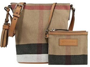 Burberry Bucket Ashby Cross Body Check Shoulder Bag