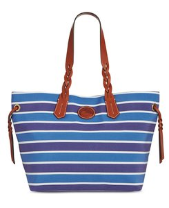 Dooney & Bourke & & Tote in Blue/white