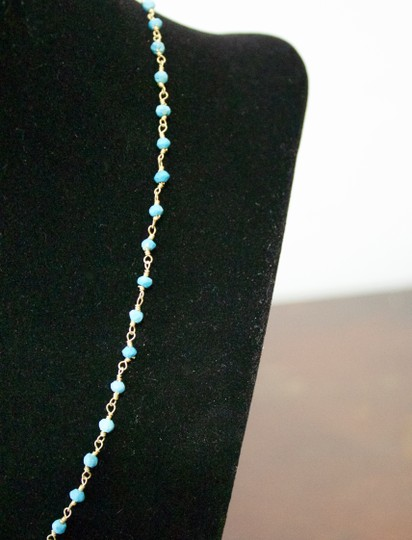 Other Blue Turquoise Beads and Copper Links Necklace Image 1