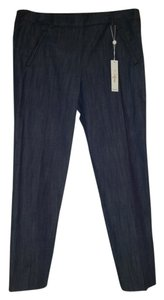 Trina Turk Straight Pants blue cotton