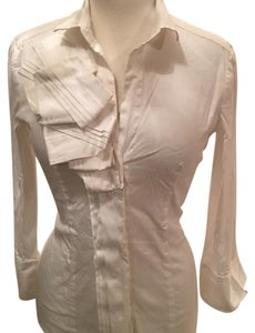 New York & Company Top off white