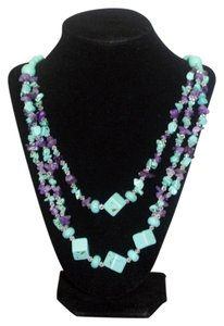 Other Turquoise and Amethyst Long necklace