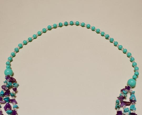 Other Turquoise and Amethyst Long necklace Image 1