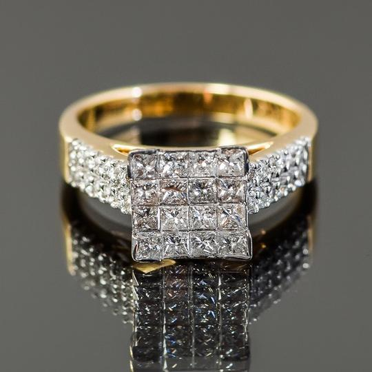 Other 14K Yellow Gold and Invisible Set Diamond Cathedral Ring Image 1