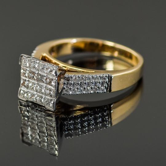 Other 14K Yellow Gold and Invisible Set Diamond Cathedral Ring Image 4