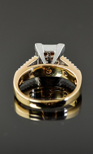 Other 14K Yellow Gold and Invisible Set Diamond Cathedral Ring Image 5
