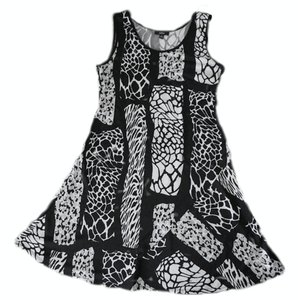MSK short dress Black, White, Gray Animal Print Sleeveless Summer on Tradesy