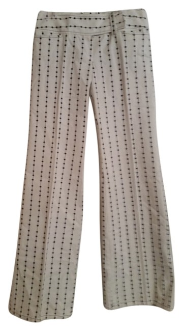 Nanette Lepore Flare Pants white with blue detailing