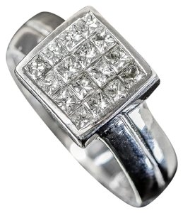 Other 14K White Gold and 1.00 CTW Invisible Set Diamond Ring