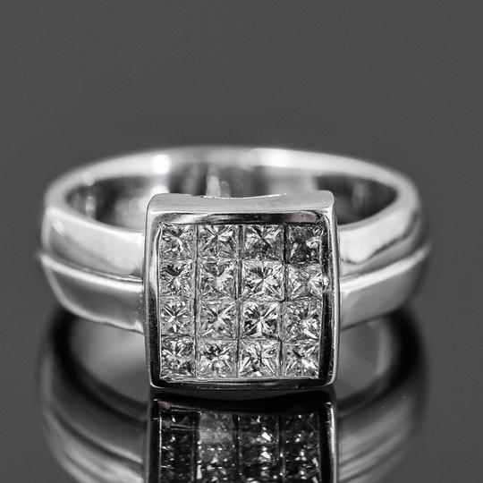 Other 14K White Gold and 1.00 CTW Invisible Set Diamond Ring Image 1