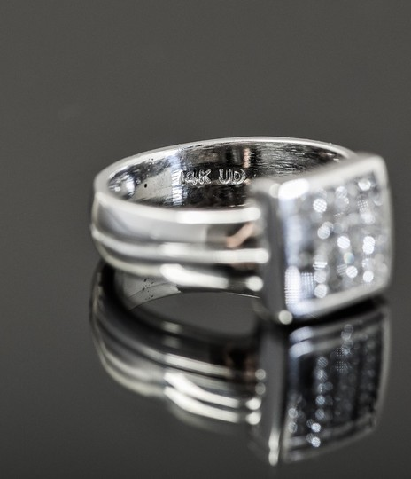 Other 14K White Gold and 1.00 CTW Invisible Set Diamond Ring Image 5