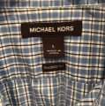Michael Kors Button Down Shirt blue and white