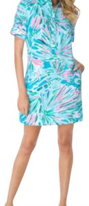 Lilly Pulitzer short dress Blue, Green, Pink, White, Black on Tradesy