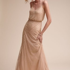 BHLDN Rose Gold Sophia 36996387 Formal Wedding Dress Size 2 (XS)