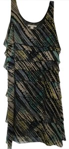 Kenneth Cole Tiers Layers Flirty Multi Color Dress