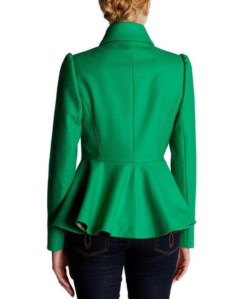 78ac7d957141a Ted Baker Green Sollel Short with Peplum Coat Size 2 (XS) - Tradesy
