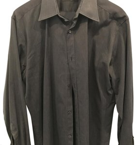 Gucci Button Down Shirt blank with thin white stripes