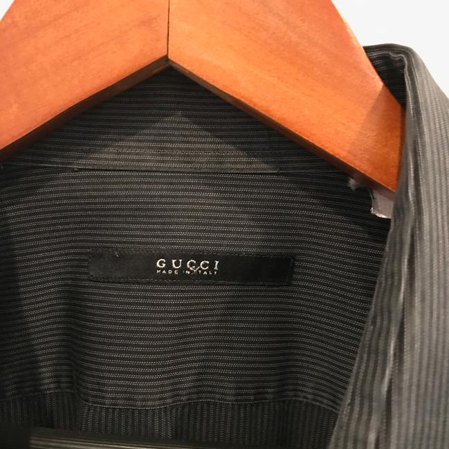 Gucci Button Down Shirt blank with thin white stripes Image 1