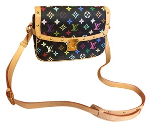 Louis Vuitton Black Multicolor Canvas Cross Body Bag