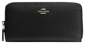 Coach COACH ACCORDION ZIP WALLET Pebble Leather 57215 NWT