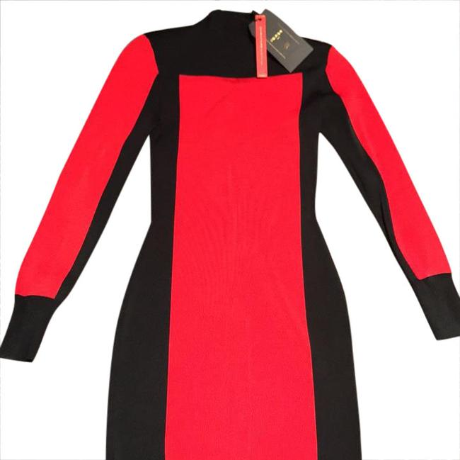 Item - Black Red & Gold Hardware 08212520023090 Mid-length Night Out Dress Size 2 (XS)