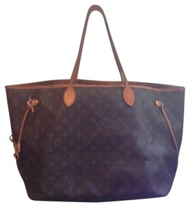 Louis Vuitton Neverfull Gm Mm Pm Monogram Tote in Brown