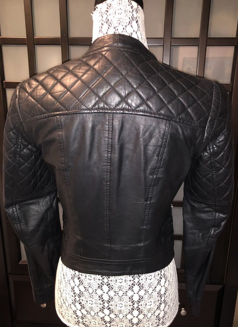 W118 by Walter Baker Moto Motorcycle Quilted Leather Jacket Image 10