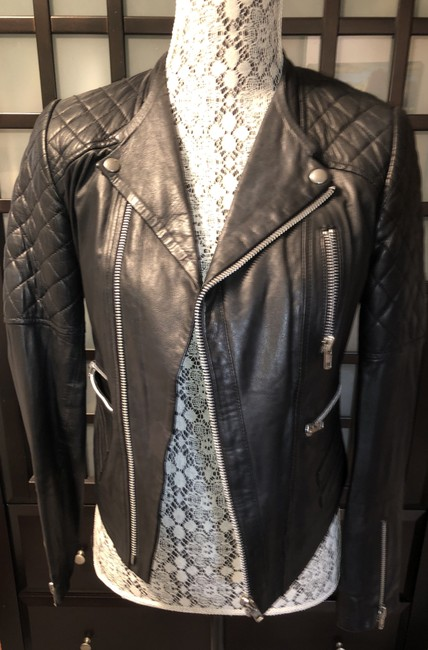 W118 by Walter Baker Moto Motorcycle Quilted Leather Jacket Image 3