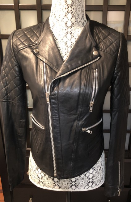 W118 by Walter Baker Moto Motorcycle Quilted Leather Jacket Image 4