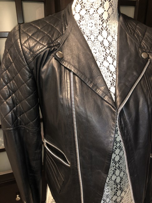 W118 by Walter Baker Moto Motorcycle Quilted Leather Jacket Image 5