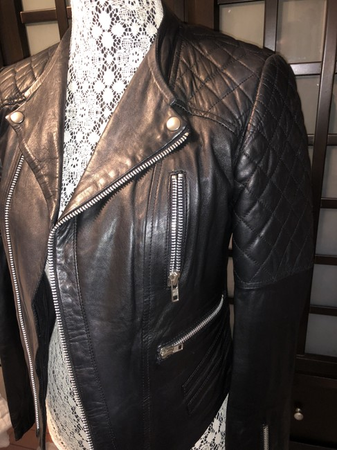 W118 by Walter Baker Moto Motorcycle Quilted Leather Jacket Image 6