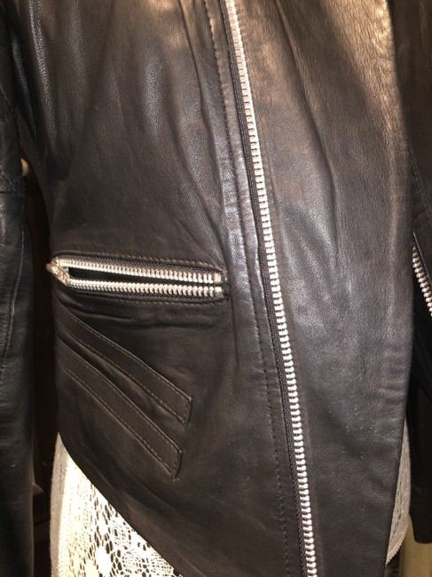 W118 by Walter Baker Moto Motorcycle Quilted Leather Jacket Image 8