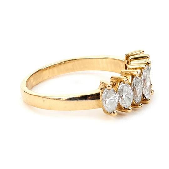 Other Marquise Diamond Band with 14K Yellow Gold Ring Image 2