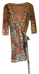 Diane von Furstenberg short dress brown, orange, tan on Tradesy