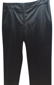 Aidan Mattox Straight Pants Black Satin