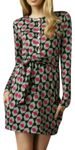 Diane von Furstenberg Silk Print Abstract Wrap Dress