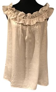 Ann Taylor LOFT Top Gold White Tan