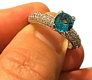 Other Blue WGP CZ paved evening ring new without tags